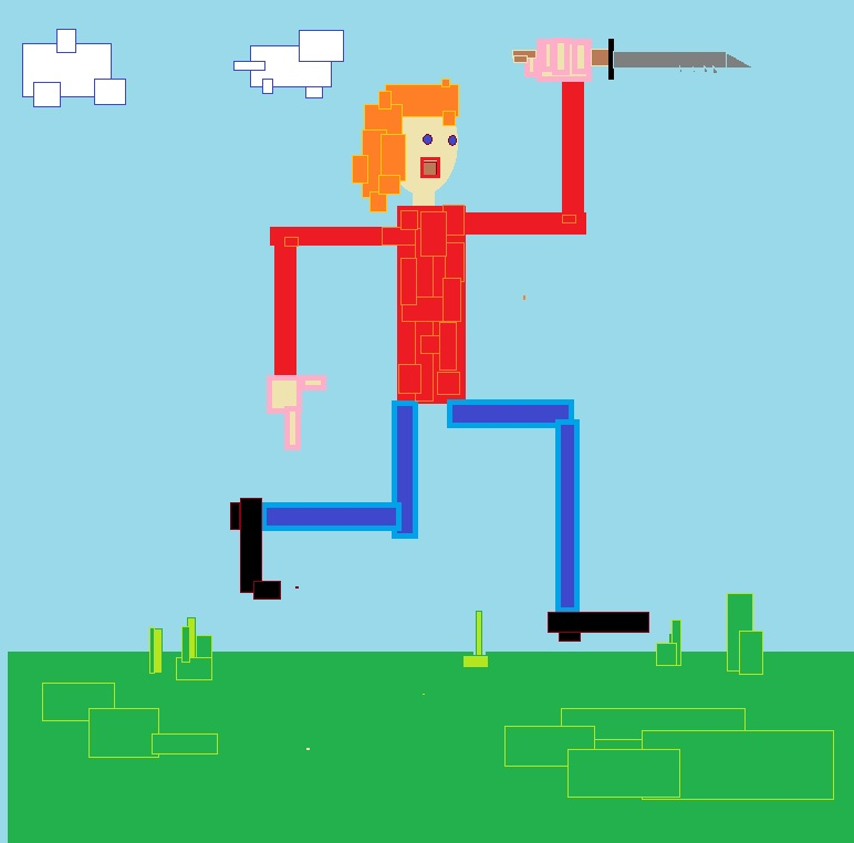 Sucky Art D By John Smith That Guy With A Knife Andrew McPixel Red Nick